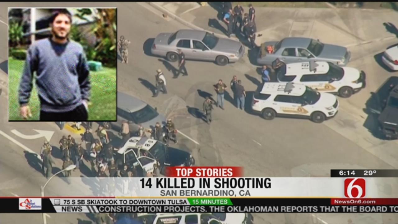 San Bernardino shootings image from TV
