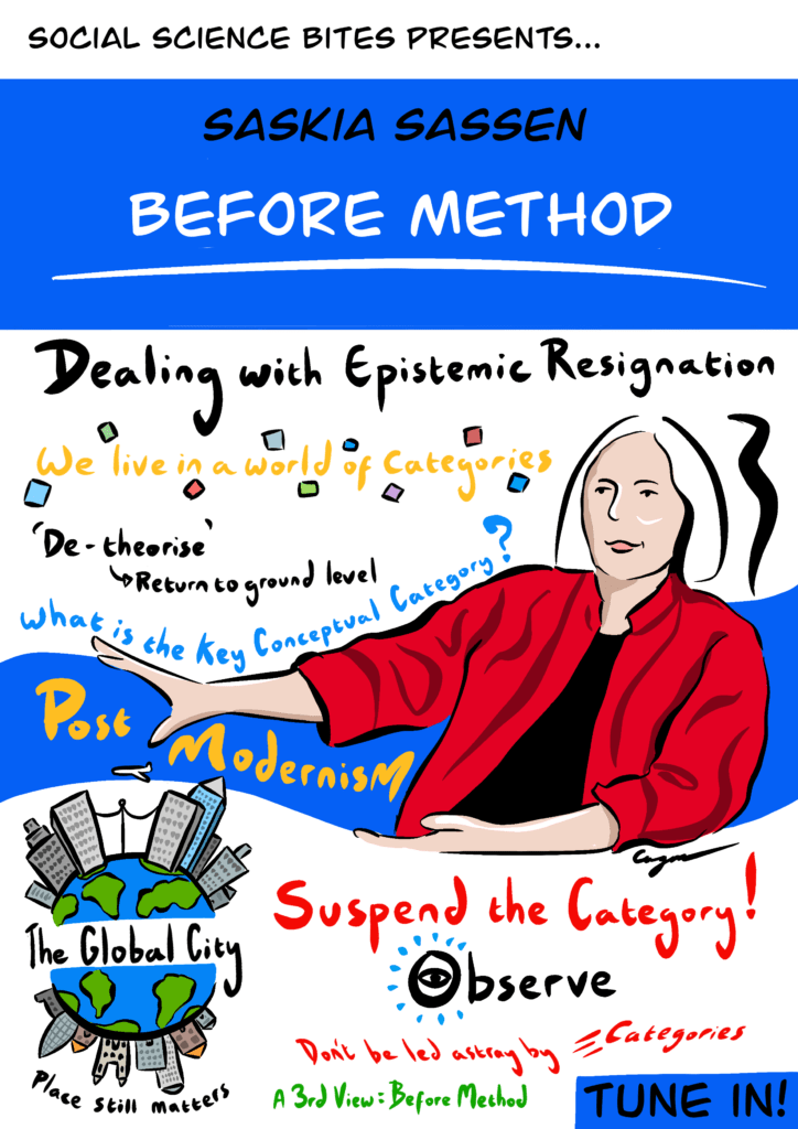 Illustration of Saskia Sassen on Before Method