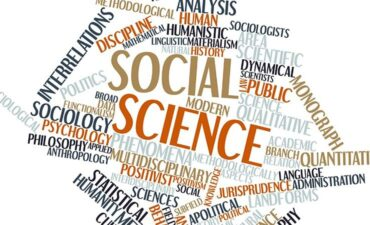 word cloud of various social science terms