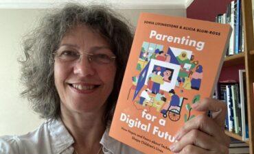 Sonia Livingstone displays her new book
