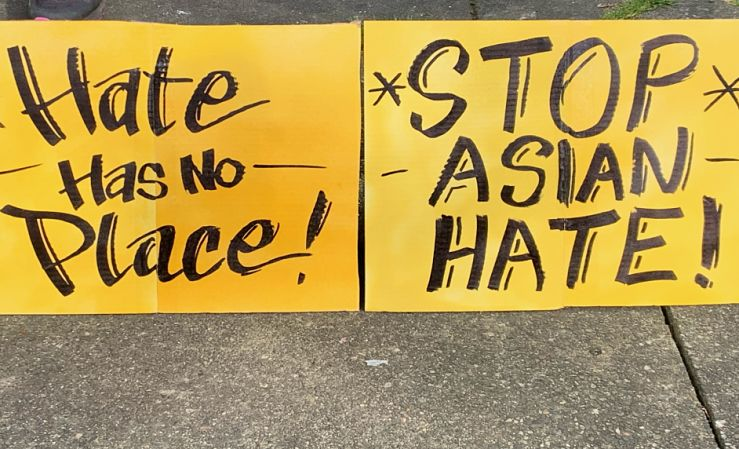'Stop Asian Hate' sign
