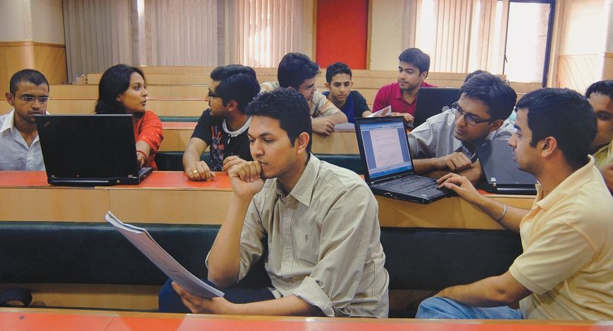 University students in classroom