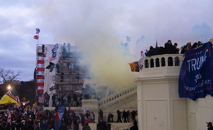 Tear gas released at US Capitol