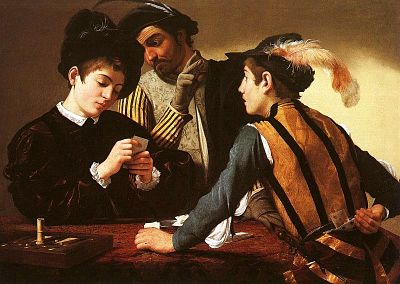 Caravaggio's 'The Cardsharps'