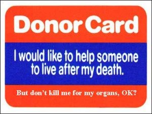 UK organ donor card