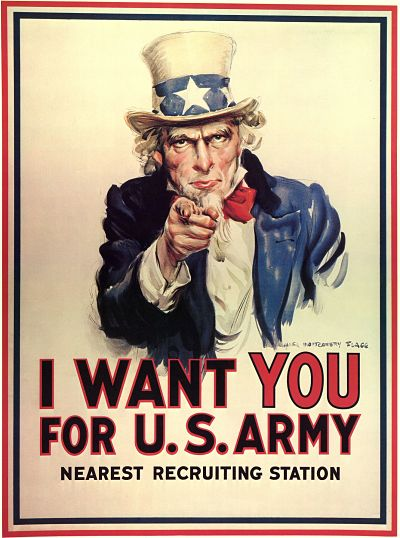Uncle Sam poster from WW1