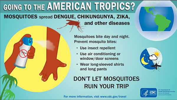 Zika virus poster from CDC