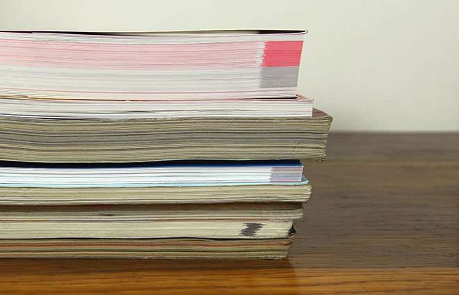 stack of academic journals