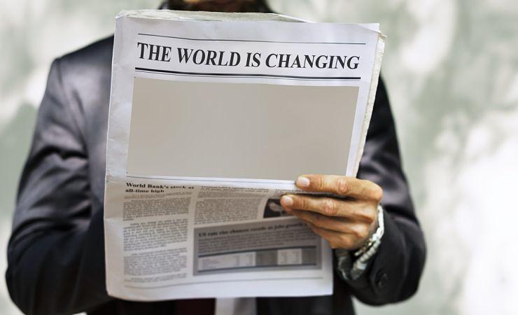 World is changing headline