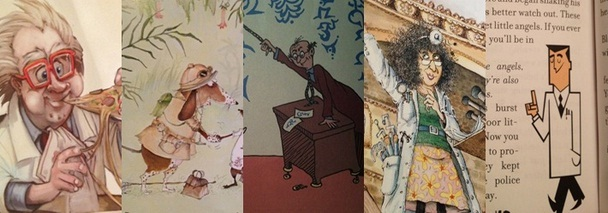 Five depictions of academics in kids books