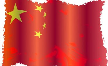 Chinese flag graphic