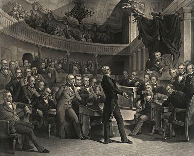 Woodcut of Congress