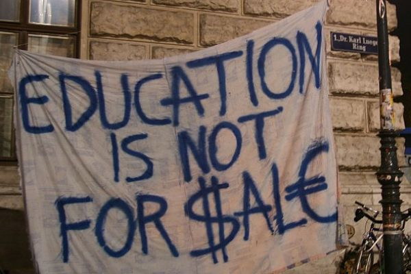 Education not for sale
