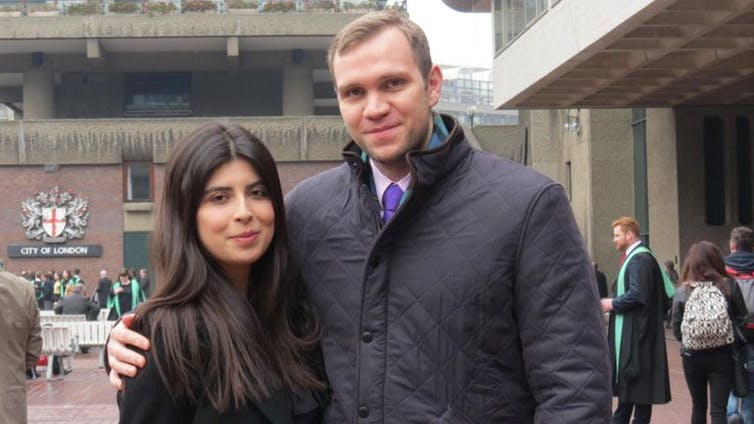 Matthew Hedges and Wife