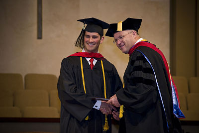 graduate student getting degree