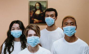 quartet in face masks
