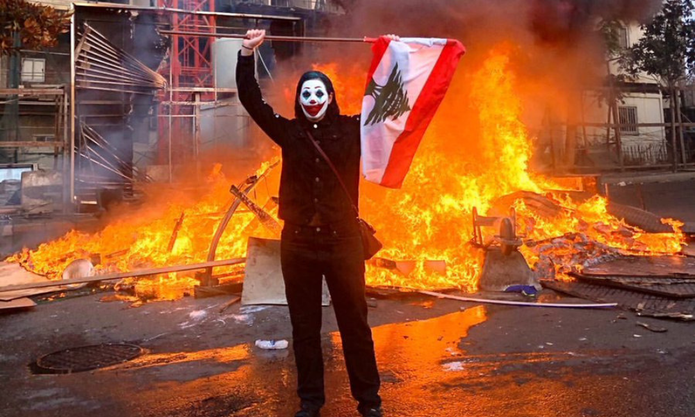 Joker protester in Lebanon riots