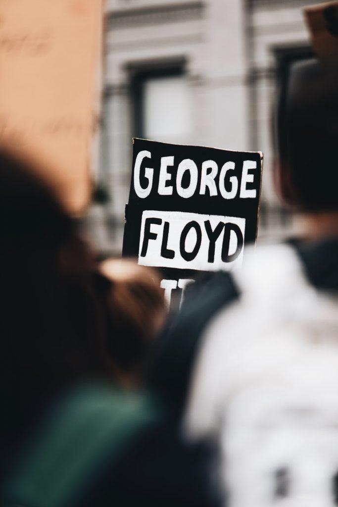 George Floyd sign