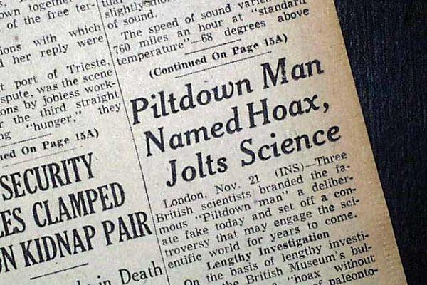 Piltdown headline