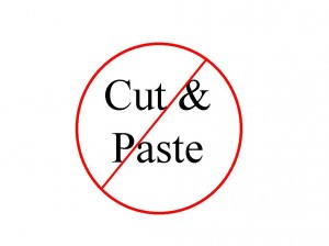 Don't cut and paste logo