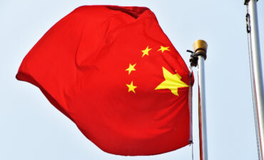 China Flag Flying