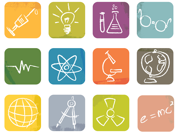 STEM science icons
