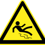 Slippery slope roadsign
