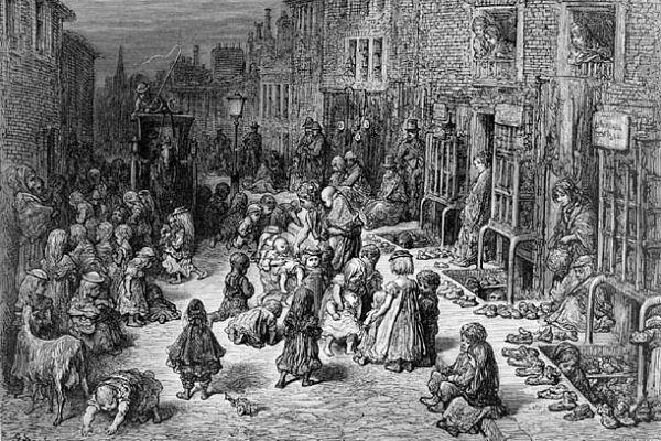 London poor circa 1870