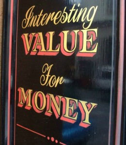 Value for Money sign