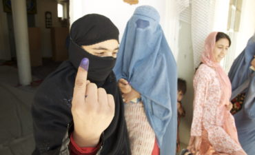 women voting in Kabul